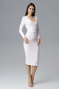 Sukienka Figl midi z długim rękawem ołówkowa