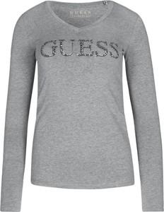 Bluzka Guess z długim rękawem w stylu casual
