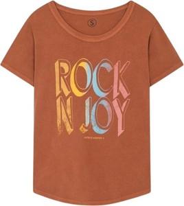 T-shirt Leon & Harper z krótkim rękawem w młodzieżowym stylu z bawełny