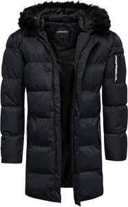 Czarna kurtka Recea w stylu casual z bawełny