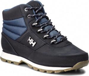 Granatowe buty trekkingowe Helly Hansen w sportowym stylu