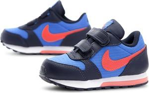 Niebieskie buty sportowe dziecięce Nike na rzepy