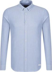 Koszula Calvin Klein z klasycznym kołnierzykiem z długim rękawem z bawełny