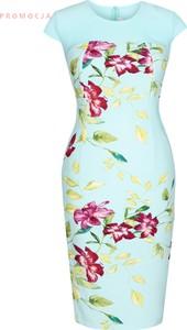Sukienka Fokus z krótkim rękawem w stylu klasycznym z tkaniny