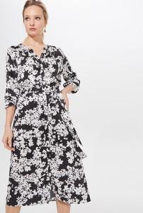 Sukienka Mohito midi z długim rękawem