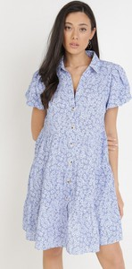 Sukienka born2be z krótkim rękawem z dekoltem w kształcie litery v mini