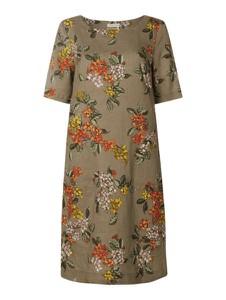Sukienka Christian Berg Women z lnu z okrągłym dekoltem w stylu casual