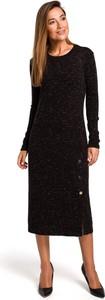 Sukienka Merg z okrągłym dekoltem z długim rękawem