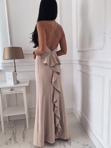 Sukienka VARLESCA z dekoltem na plecach maxi na ramiączkach