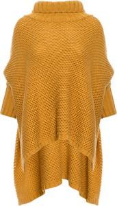 Żółty sweter Be w stylu casual