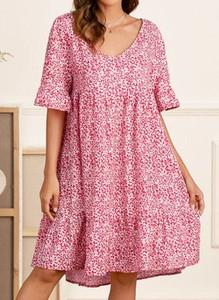 Sukienka Cikelly w stylu casual z krótkim rękawem prosta