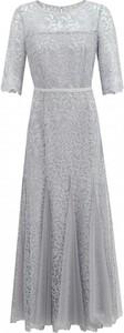 Sukienka POTIS & VERSO z tiulu maxi z okrągłym dekoltem