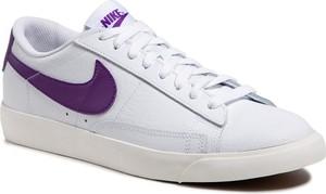 Buty NIKE - Blazer Low Leather CI6377 103 White/Voltage Purple/Sail