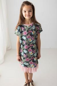 Sukienka dziewczęca Myprincess / Lily Grey w kwiatki z tiulu
