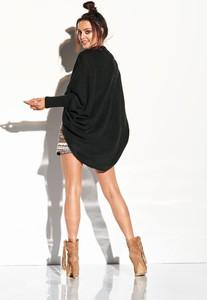 Czarny sweter Merg w stylu casual