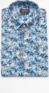 Niebieska koszula Recman w młodzieżowym stylu z długim rękawem
