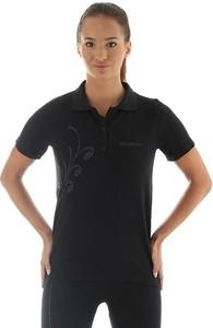 Czarny t-shirt Brubeck z dzianiny