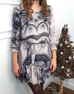 Sukienka Lamaja Butik z długim rękawem
