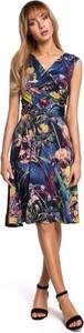 Sukienka Merg kopertowa z dekoltem w kształcie litery v