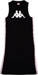 Czarna sukienka Kappa z bawełny dopasowana bez rękawów