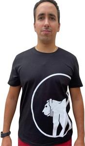 Czarny t-shirt Ciesse Piumini w młodzieżowym stylu z krótkim rękawem