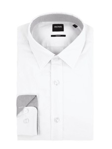 Koszula Boss z bawełny z klasycznym kołnierzykiem