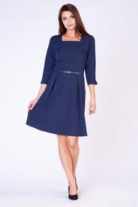 Sukienka butik-choice.pl midi z długim rękawem