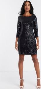 Czarna sukienka Glamorous z długim rękawem mini bandażowa
