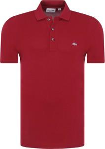 Czerwona koszulka polo Lacoste z krótkim rękawem