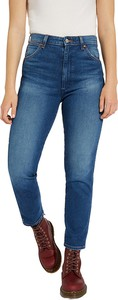 Niebieskie jeansy Wrangler w street stylu z bawełny