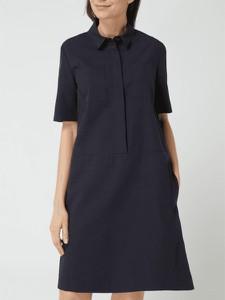 Granatowa sukienka Montego z bawełny mini w stylu casual