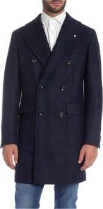 Niebieski płaszcz męski Luigi Bianchi Mantova