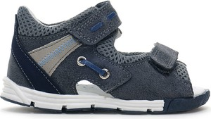 Granatowe buty dziecięce letnie Kornecki ze skóry dla chłopców