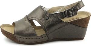 Sandały Helios ze skóry w stylu casual z klamrami