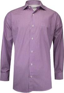 Fioletowa koszula Gustaff z długim rękawem