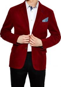 Czerwona marynarka Roy z tkaniny w stylu casual