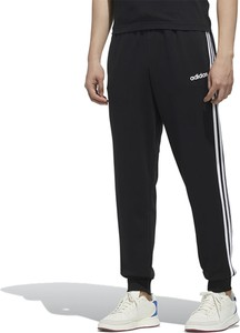 Czarne spodnie sportowe Adidas z dresówki