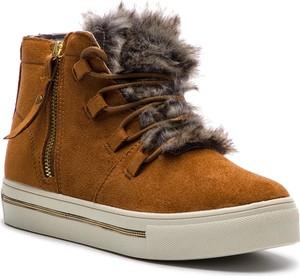 Sneakersy XTI sznurowane na koturnie