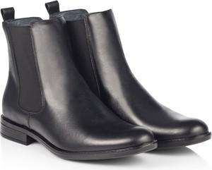 Czarne buty zimowe Dastan ze skóry