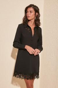 Sukienka Trendyol prosta mini z długim rękawem
