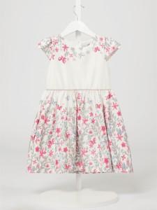 Różowa sukienka dziewczęca Eisend w kwiatki