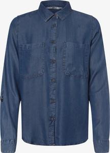 Niebieska koszula Only w stylu casual z kołnierzykiem z długim rękawem