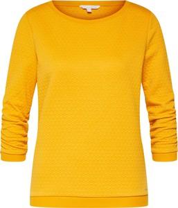 Żółta bluza Tom Tailor Denim w stylu casual krótka