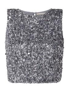 Bluzka Lace & Beads bez rękawów z okrągłym dekoltem
