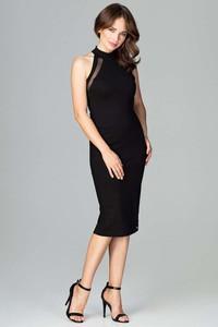 Czarna sukienka Katrus ołówkowa midi