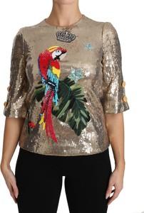 Bluzka Dolce & Gabbana z okrągłym dekoltem z nadrukiem