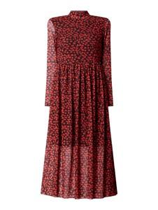 Czerwona sukienka Tom Tailor Denim z długim rękawem