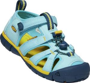Niebieskie buty dziecięce letnie Keen na rzepy