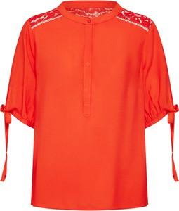 Czerwona bluzka Vero Moda z szyfonu