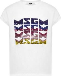 Bluzka dziecięca MSGM dla dziewczynek z krótkim rękawem